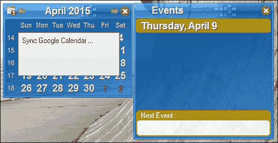 google calendar desktop