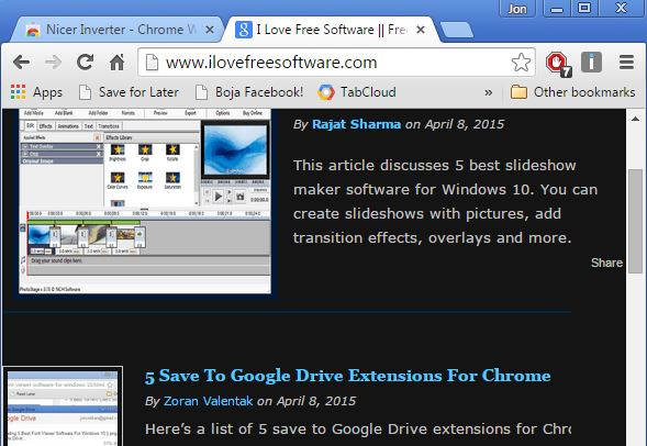 night reading extensions chrome 2