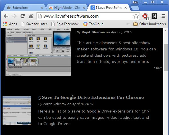 night reading extensions chrome 3
