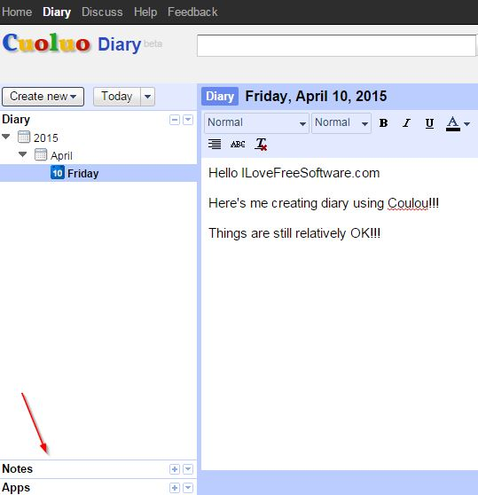 online diary extensions chrome 3