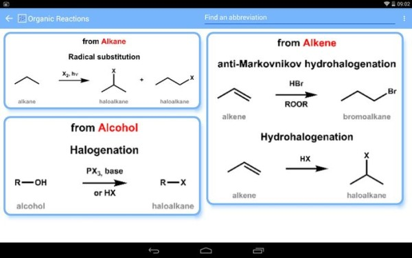 organic chemistry apps android 1