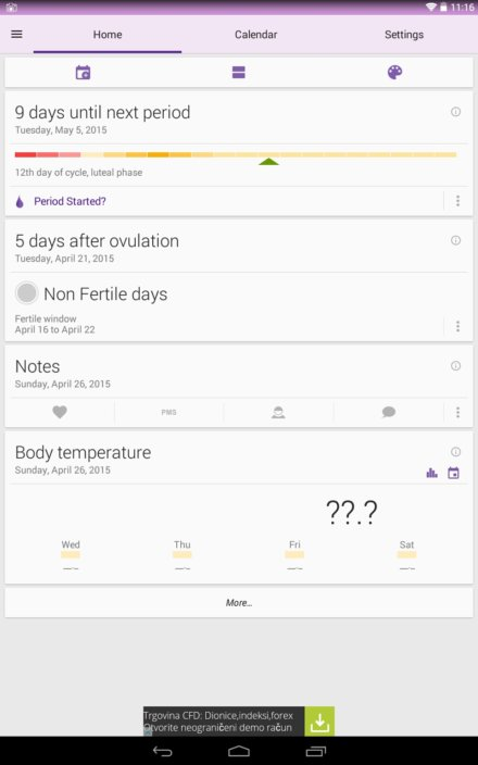ovulation tracker apps android 2