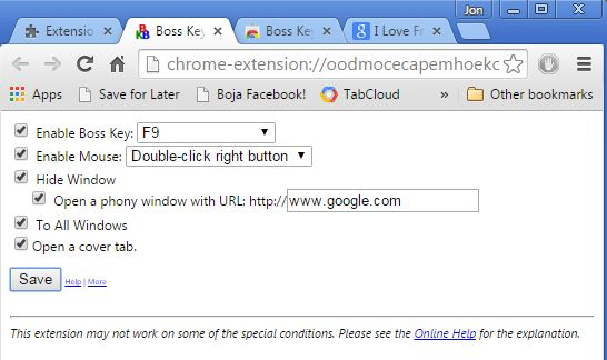 panic button extensions chrome 4