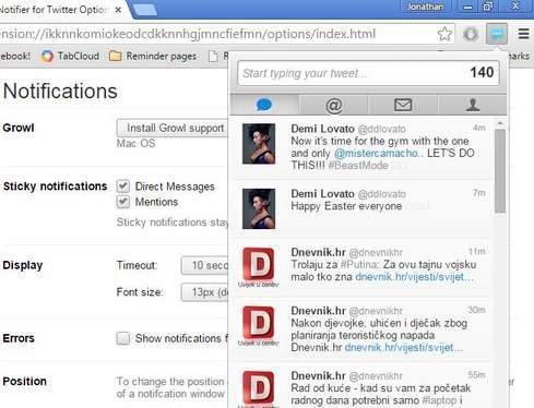 twitter notifier extensions chrome 1