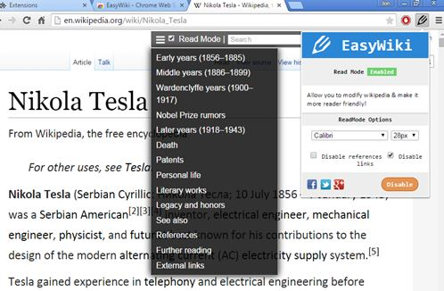 wikipedia beautifier extensions chrome 4