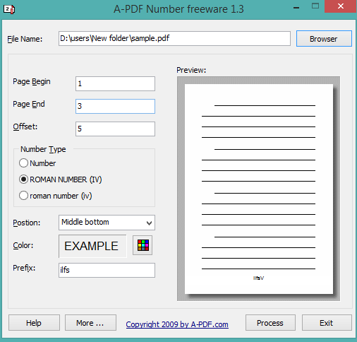 A-PDF Number- interface