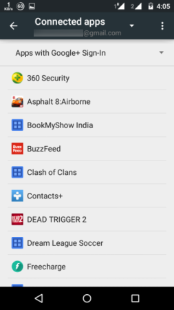 Apps Connected to Google+