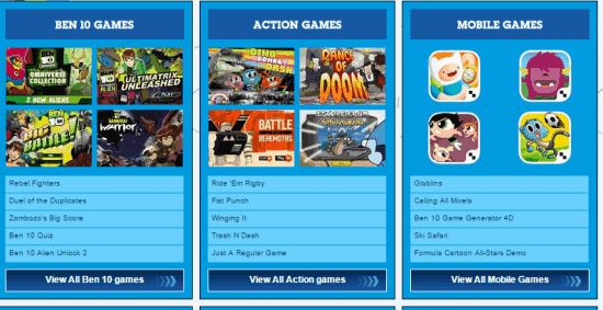 Play Free Online Games Of Cartoon Network India Com ...