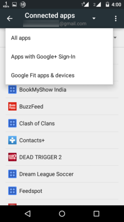 Choose Apps with Google+ Sign-in