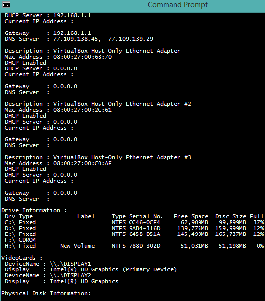 CompInfo- get system info using this free command line tool