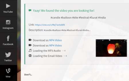 online Vine Downloader