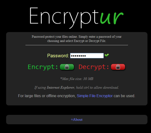 Encryptur- interface