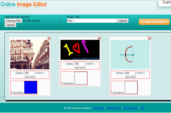 GIF Maker feature on Online Image Editor
