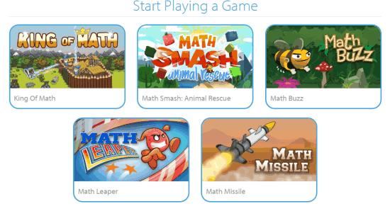 Math Games Homepage