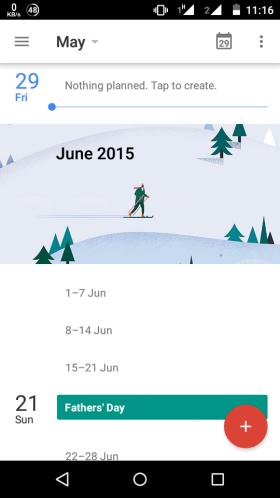 Open Calendar App