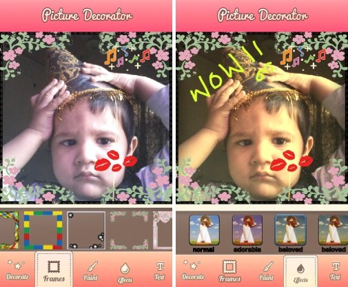 Picture Decorator HD-frames, paint, photo effects