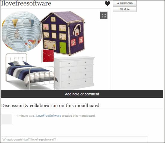 Roomstyler Moodboard