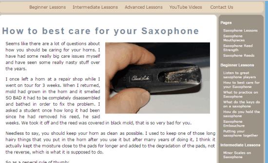 Saxophone-Lessons