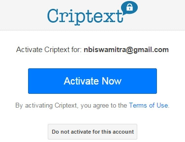 Activate Criptext