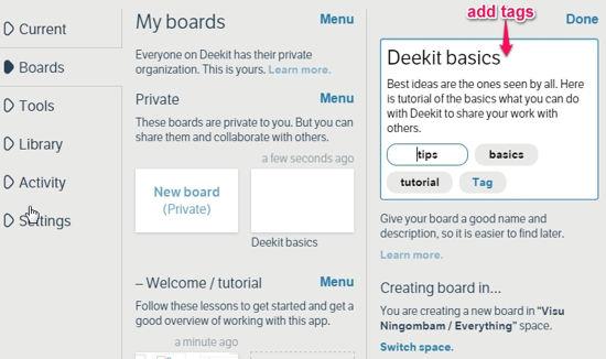 Deekit Create Board