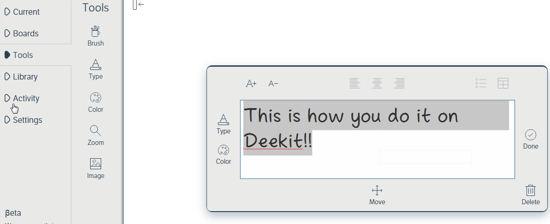 Deekit Insert Text