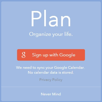 Plan Sign Up