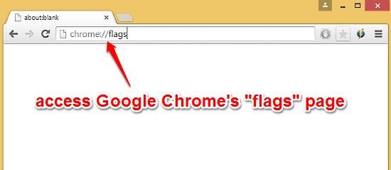 access chrome flags