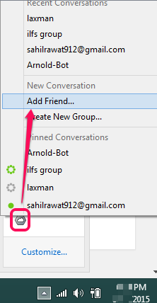 add friend for file sharing