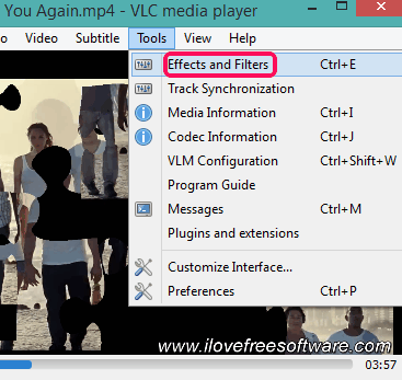 click on Effects and Filters option