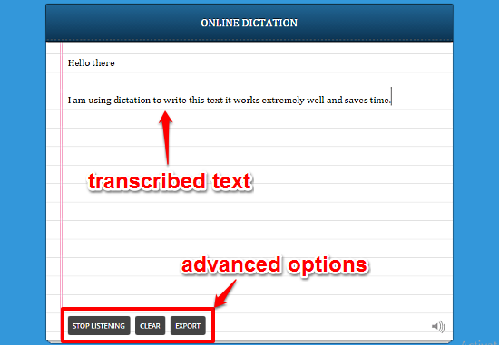 dictation in action