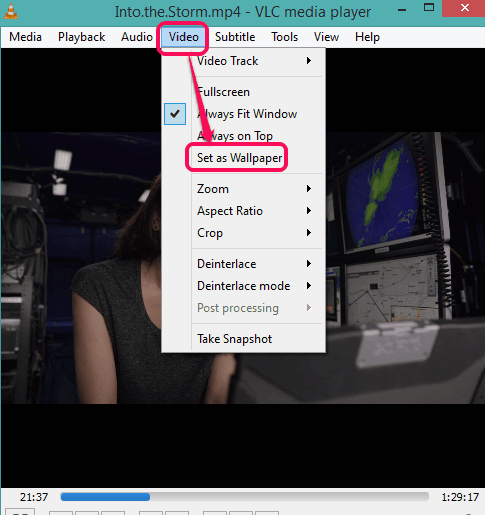 enable Set as Wallpaper option