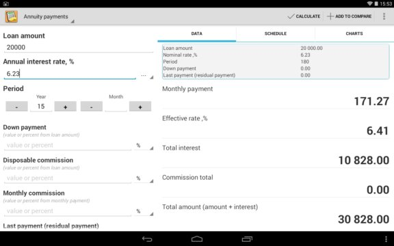 loan calculator apps android 1