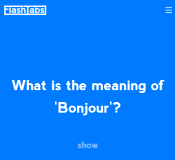 open new tab of Chrome and flashcard question will visible