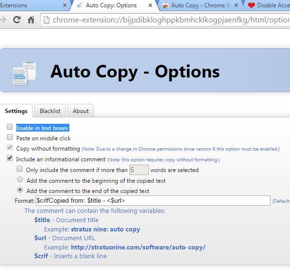 plain text copy extensions chrome 3