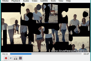 play puzzle game using a video in VLC