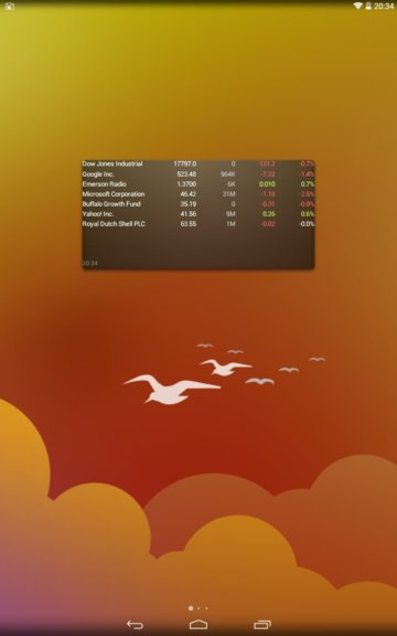 stock market widgets android 1