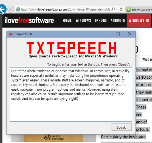 text to speech software windows 10 3