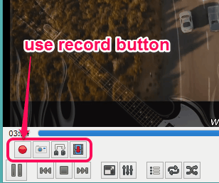 use record button to start the recording
