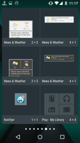 Choose the Notifyer Widget