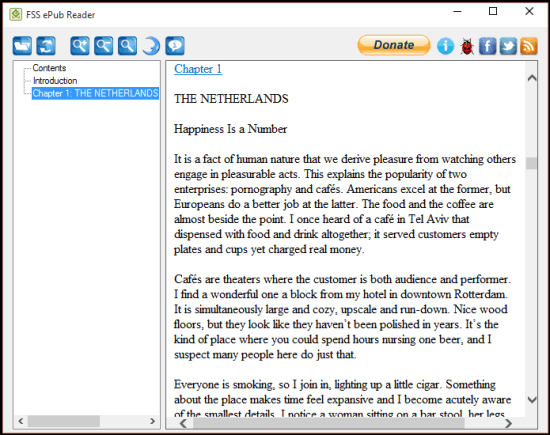 FSS ePub Reader- interface