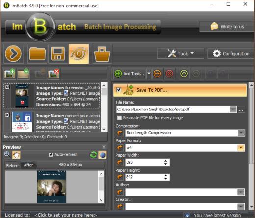 ImBatch- interface