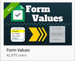 Install Form Values