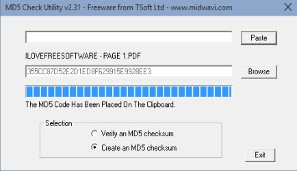 MD5 hash checker software windows 10 1