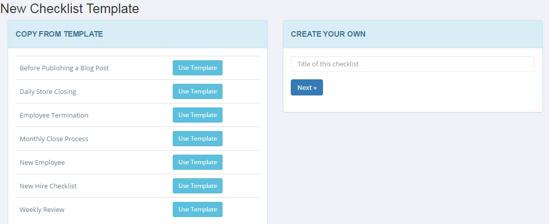 Create a checklist run