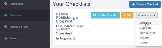 Manifestly Scheduling a Checklist