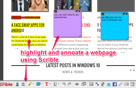Scrible- highlight and annotate webpages