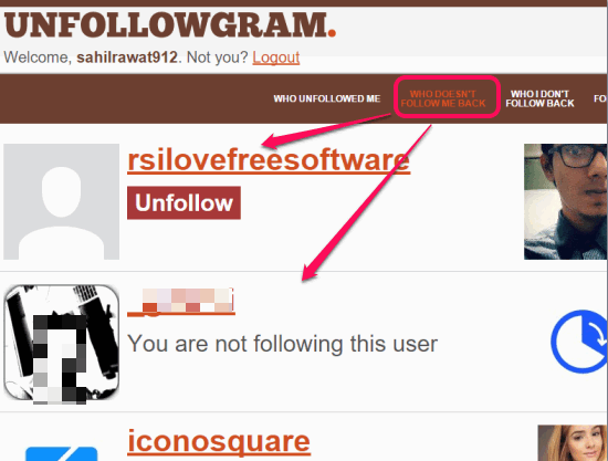 Unfollowgram to check who doesn't follow you back on Instagram
