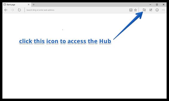 access hub in ms edge