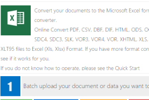 batch convert files to Excel