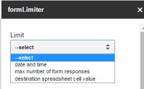 formLimiter Options